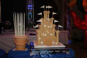 My sandcastle cake masterpiece.