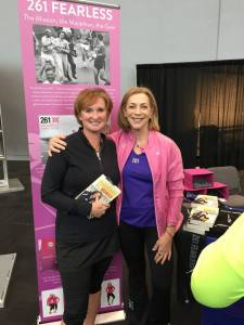 Kathrine Switzer.  I met my heroine at the 2014 NYC Marathon Expo.