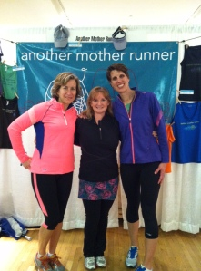 Sarah and Dimity of Another Mother Runner at the 2013 More Magazine Half Marathon Expo.