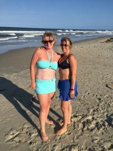 Hot mamas on the beach.