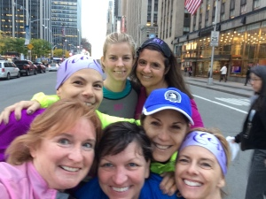 Running our way up 6th Ave to Central Park, following our failed attempt to be on the Today Show!