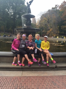 Fearless ladies taking a break at Bethesda Fountain.