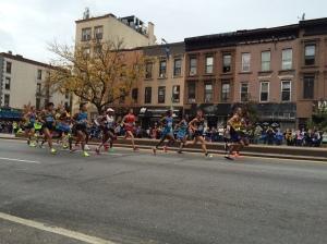 Elite men, Brooklyn, Mile 8